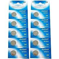 Eunicell CR1616 Lithium Blister Pack 3V 3 Volt Coin Cell Batteries (10 pcs) by Eunicell preisvergleich bei billige-tabletten.eu