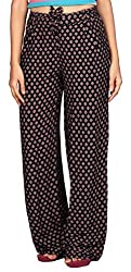 Comix Women Regural fit Palazzo Pant(AGSPL-3341-ITY-PZ-36-BLACK-4XL)
