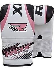 RDX Gel Pro Mujer Guantes Mitones Bolsa De Boxeo Grappling MMA UFC Muay Thai Entrenamiento Del Sacador Plata