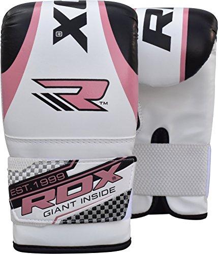 RDX Gel Bag Guanti da donna Guanti da boxe Punch Grappling MMA Donna Rosa Palestra Calcio