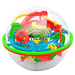NiceButy 3D Laberinto de Bolas de Juguete Puzzle 100 Barreras Laberinto Mágico intelecto Bola del Balance Laberinto de Bolas Puzzle Regalos del Partido