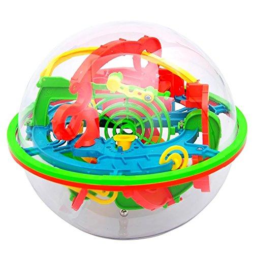 AAGOOD Magische Labyrinth Intelligenz Kugel Palace Ball 1 Pack3D Labyrinth Ball Puzzle Spielzeug 100 Barriers Labyrint