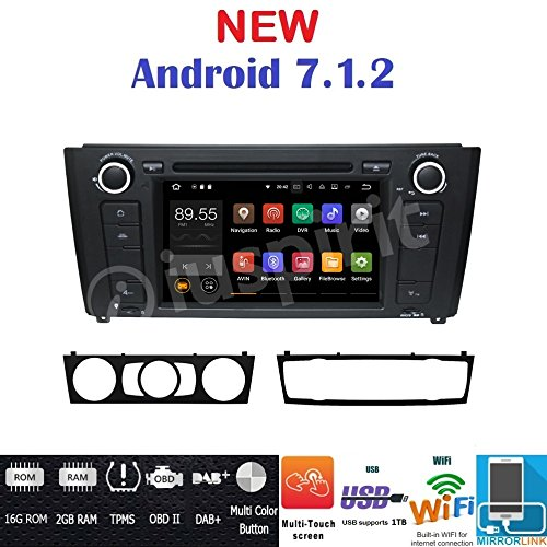 Iuspirit Autoradio navigateur GPS Android 7.1, DVD, USB, SD, Bluetooth