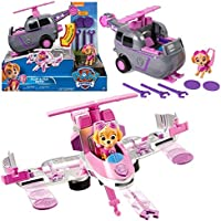 Paw Patrol - Selection Flip & Fly Deluxe Vehicles with Transforming & Figure