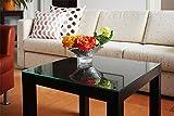 Tischplatte 55 x 55 cm für kleinen Ikea Lack Tisch stabile Tischplatte Auflageplatte aus Sicherheitsglas (6 mm ESG-Glas) abwaschbar stabil Tischoberfläche schützend