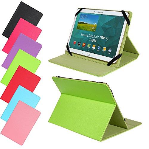 Universal Slim Tasche für Tablet Modelle 7, 8, 9 oder 10 Zoll Größe Schutz Case Hülle Cover (9 / 10 Zoll, Grün)