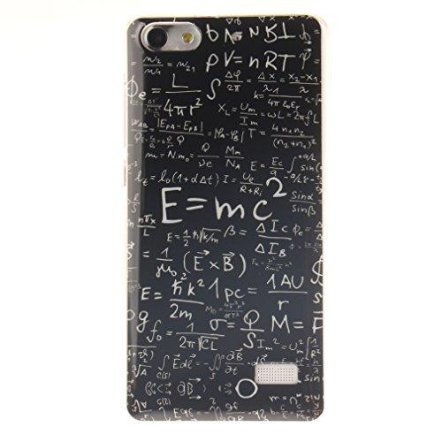 OUJD Huawei G Play Min Hülle, Huawei G Play Min Case Cover, Huawei G Play Min Ultra Dünn Handyhülle, TPU Schutzhülle für Huawei G Play Min Honor 4C - Mathematische Formel -