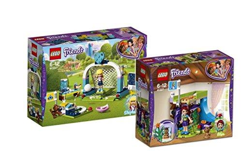 Lego Friends Set: 41327 Mias Zimmer + 41330 Fußballtraining mit Stephanie (Friends-fußball-set Lego)