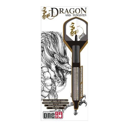 ONE80 Soft-Dartpfeile Dragon Softip 20g - Dardo de plástico ( 20 g ), color plateado
