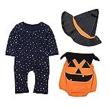 Le SSara Bambino inverno zucca Halloween pagliaccetto neonato Body Costume abiti 3 pz (12-18 Mesi,...