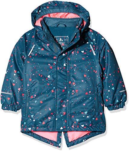 NAME IT Baby-Mädchen NMFSNOW03 AOP Jacket FO Jacke, Mehrfarbig Legion Blue, 98 Nylon Outerwear Jacket