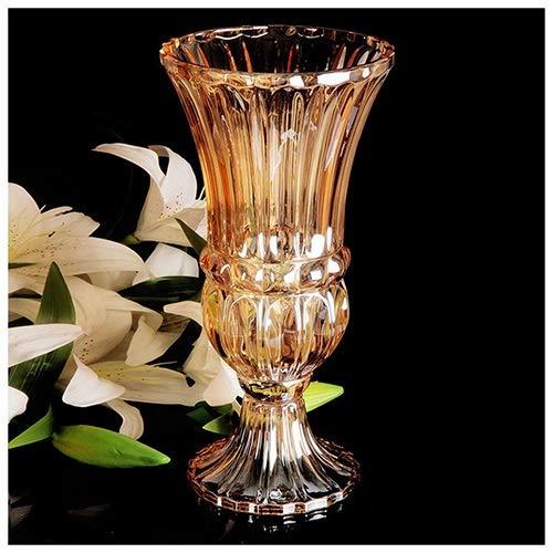 FTI-Kunst Transparente Glasvase Große Kreative Klassische Blumenschmuck Trockenblumen Bodenvase Wohnzimmer Eingesetzte Vase H40cm (Farbe : B) Crystal Glass Vase