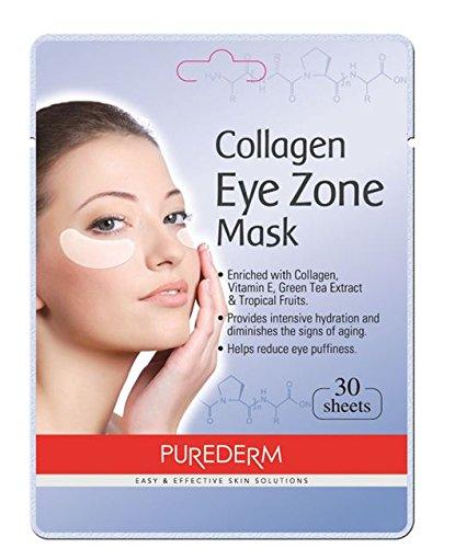 Purederm Augenpads mit Collagen (30 Stück) - Augenpflege - Augenserum - Anti Falten Augenränder - Kühlende Augenpads gegen (Männer Kostüme Frauen X)