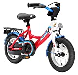 BIKESTAR Premium Sicherheits Kinderfahrrad 12 Zoll für Mädchen und Jungen ab 3-4 Jahre | 12er Kinderrad Classic | Fahrrad für Kinder Rot & Weiß