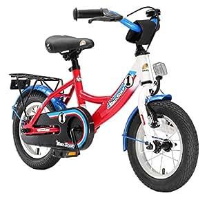BIKESTAR® Premium Vélo pour enfants à partir d'env. 3 ★ Edition Classic 12 ★ Couleur Blanc Bleu Rouge Rally