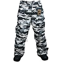 South Play Mens Camouflage Wasserdicht Ski-Snowboard Light Military Hose