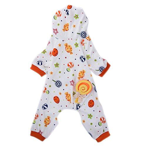 yunt Pet Hund Katze Candy World Muster Baumwolle Schlafanzüge Freizeit und Beständigkeit Pet (Candy Kostüme Cute)