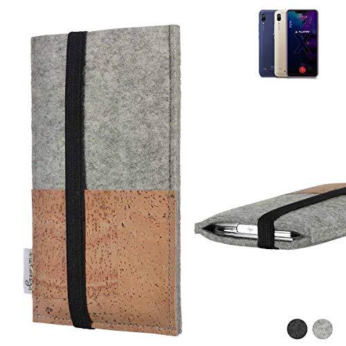 flat.design Handy Hülle Sintra für Allview Soul X5 Style Handytasche Filz Tasche Schutz Kartenfach Case Kork
