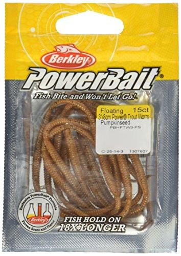 PowerBait FW Power Floating Trout Worm Angeln Köder, Herren, Pumpkinseed (Trout Worms)