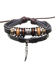 SUYA pulseras,2 PC, pulsera de cuentas, pendiente de la forma canina, pulsera creativa, joyería, regalos creativos