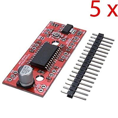Gaoxing Tech. 5PCS A3967 EasyDriver Schild Stepper Motor Fahrer Modul V44 Für Arduino 3D Drucker