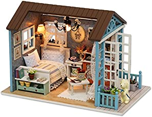 Doll House - Forest Time Handmade Craft Miniature Wooden House Toys for Birth Day Gift & Home Decor – DIY Creative Room with Furniture & Accessories for Kids, Lovers, Friends, & Familes by Shuban