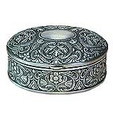 Elegante Cofre Ovalado Decorativo de Metal para Anillos o Arras de Bodas. Complementos. Cajas Multiusos. Regalos Originales. Detalles de Bodas, Comuniones, Bautizos. CC
