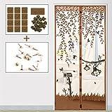 Foxi Magnetische Schirmtür verschlüsselt, Sommer Home Mesh bildschirmvorhang, Einfache Installation Magnetische fliegengitter Tür-B 100x200cm(39x79inch)