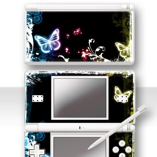 """Nintendo DS Lite Skin """" NEON BUTTERFLY """" Aufkleber Sticker Folie Schutzfolie"""