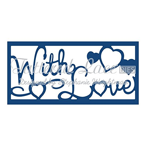 Tattered Lace With Love Panel Inset D775 Stephanie Weightman by Tattered lace -