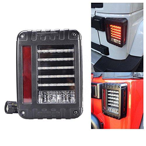 Preisvergleich Produktbild ZHITEYOU 2 STÜCKE EURO Version Bremse LED Rückleuchten Rückseitenrücklicht Integrierte Blinker Lampen für Wrangler 07-15