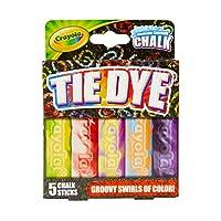 CRAYOLA Tie-Dye Washable Sidewalk Chalk, Multi-Colour, 13.97 x 10.41 x 2.28 cm