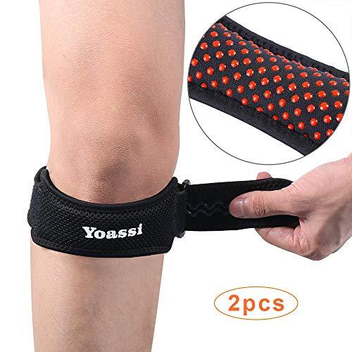 Yoassi - 2 x Patella Band - Hochwertig Silikon Patellasehnen Bandage Sport Entlastung Kneepad Knieschützer Damen und Herren