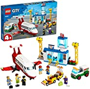 LEGO City Airport Central Airport 60261 building set with charter plane and 6 minifigures, Toy for Boys and Gi