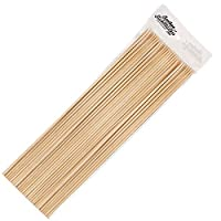 Bamboo Stick Masters 40cm Wooden Skewers Sticks Extra Long Strong For BBQ Barbecue Kebab Marshmallow Roasting Chocolate Fountain Campfire Fondue (Bamboo Sticks)