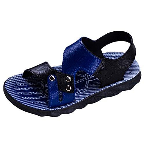 Scothen Enfants unisexes fermés sandales en cuir souple extérieur sandales Trekking Chaussures marche Garçons Chaussures d'été Walking sandales Chaussures bébé bébé garçon Chaussures marche Marine