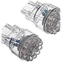 2pz. T25 3156 24-LED 80-100 LM luce bianca Lampadina a LED per auto (12V),Bianco