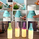 Takestop® Lámpara Botella Humidificador diffursore aroma LED USB Aromoterapia Design purificador aire color aleatorio