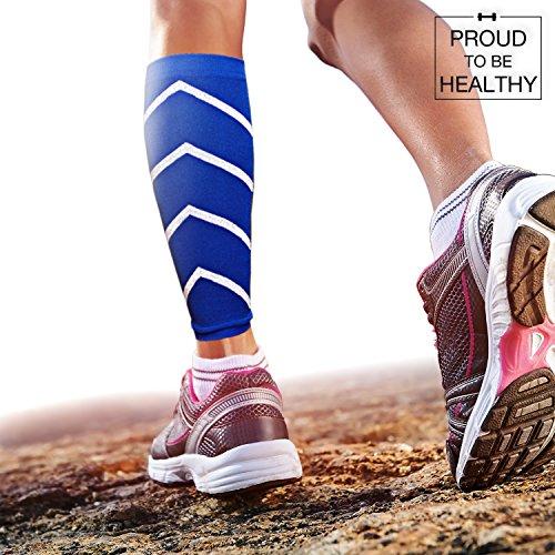 [Fascia a Compressione, Polpaccio Sport] Favorisce le prestazioni, la resistenza, la circolazione del sangue e la ripresa | Calze comprimenti antibatterica e delicata per la pelle | Calf Compression