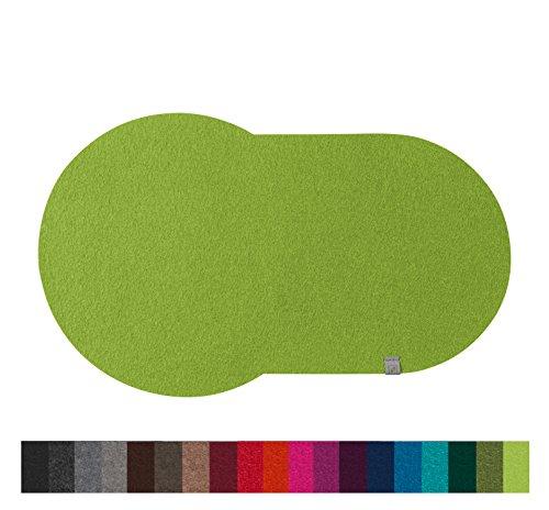 Fine Filz Gleitbrett passend für KitchenAid Artisan Cook Processor aus echtem Merinowollfilz (Lime Green)