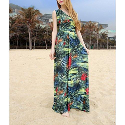 Kleid Bohemia Beach Größe Printed Plus Vneck Pinkyee Damen xtrhQdCs