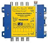 Telestar 5222533F SCR 5/2x4 K Einkabellösung (Erweiterung zu SCR 5/2x4 G bis zu 16 Teilnehmer, inkl. 4 F-Stecker-Schnellverbinder) silber