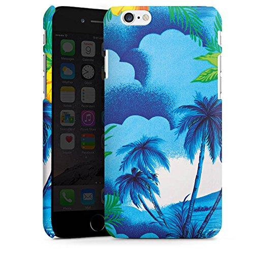 Apple iPhone X Silikon Hülle Case Schutzhülle Urlaub Palmen Hawaii Premium Case matt