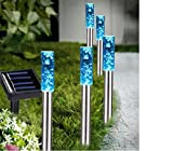 Colour Changing Solar Bubble Lights Set of x5, Great for Flower Beds, Gardens, Patios,Path Lights