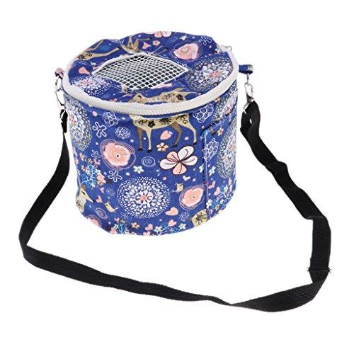 Baoblaze Kleintier Transporttasche Plüsch Transportbox mit Verstellbarem Schultergurt für Outdoor Reisen - L 21x18cm