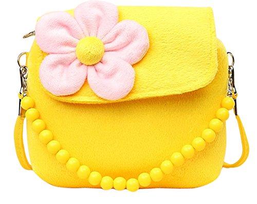 Newsbenessere.com 515Jqt4WG5L Fablcrew borsetta da principessa con fiori di peluche e perline per ragazzine