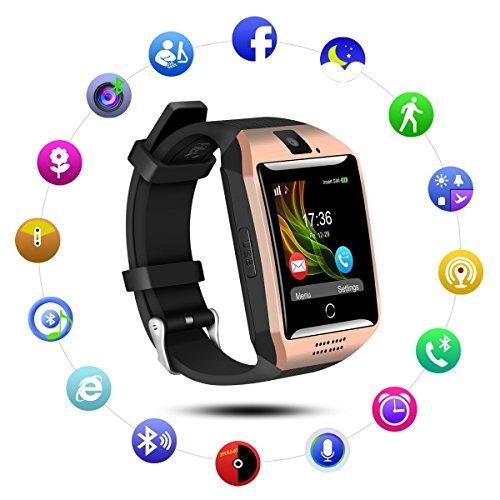 Q18Smart Watch mobile phone, Bluetooth Smartwatch con fotocamera touch screen SIM TF Card anti-smarrimento messaggio sincronizzazione da polso per Android Smartphone Samsung–Best gift