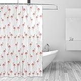 COOSUN Flamigo Drucken Duschvorhang, Polyester-Gewebe Duschvorhang, 66 x 72-inch 66x72 Mehrfarbig
