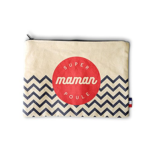 Pochette - Super Maman Poule - Made in France