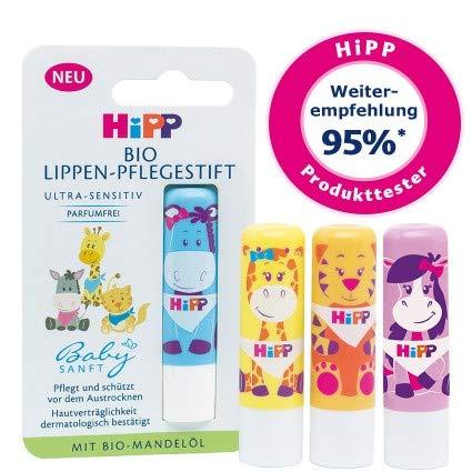 Hipp Babysanft Bio Lippen-Pflegestift Lippenstift, 2er Pack (2 x 4,8g)